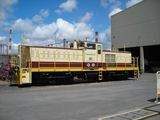 An 80-ton telecon-controlled diesel locomotive is delivered to Kagoshima Works, Sumitomo Metal Industries.のイメージ
