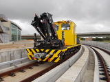 Rail crane wagon (RCW) is delivered to Taiwan airport railway.