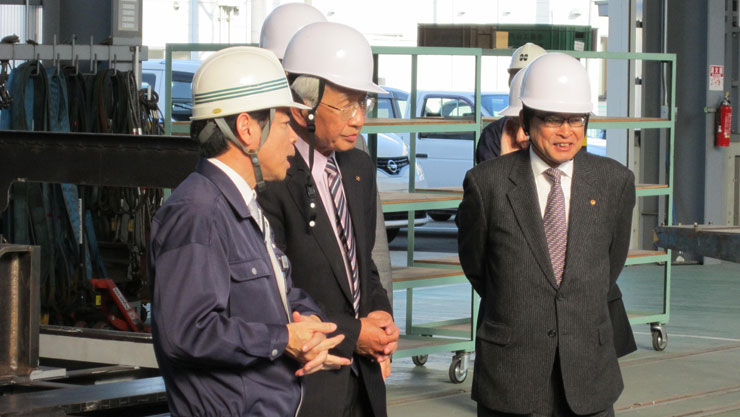 We had a visit for observation of the production process of a large locomotive for Taiwan.